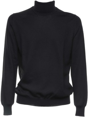 Fay Black Wool Turtleneck