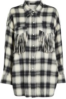 R 13 Western Fringe Plaid Shirt
