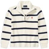 Ralph Lauren Boys' Striped Quarter-Zip Sweater - Little Kid