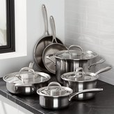 Crate & Barrel KitchenAid ® 10-Piece Triply Stainless Steel Cookware Set