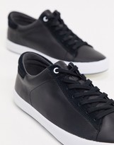 Camper leather sneaker in black
