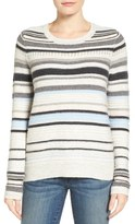 Caslon Peekaboo Stripe Sweater (Regular & Petite)