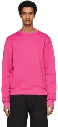 Acne Studios Pink Logo Zip Sweatshirt