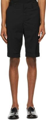 Situationist Black Wool Classic Shorts