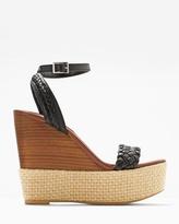 White House Black Market Braided Wedge Sandals