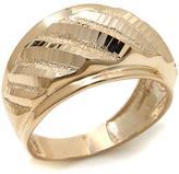Michael Anthony Jewelry 10K Diamond-Cut Cigar Band Ring