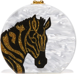 Edie Parker Oscar Zebra Head Bag