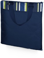 Picnic Time 'Vista XL' Outdoor Blanket Tote - Navy with Blue Stripes