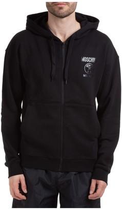 Moschino Zipped Logo Hoodie