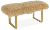 Le-Coterie Le Coterie Curly Bebe Bench - Brass/Beige frame, gold; upholstery, beige