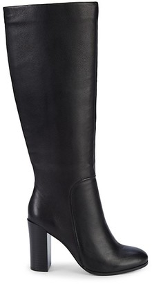 Kenneth Cole New York Jackie Pebbled-Leather Knee-High Boots