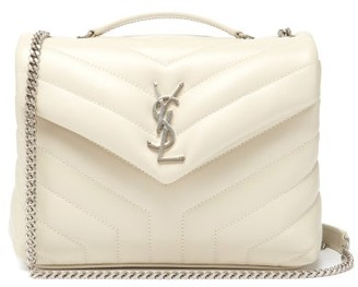 Saint Laurent Loulou Small Quilted Leather Shoulder Bag - White
