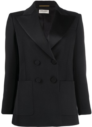 Saint Laurent Double-Breasted Tuxedo Jacket
