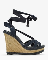 White House Black Market Ankle-Wrap Wedge Sandals