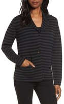 Eileen Fisher Women's Stripe Merino Wool Knit Blazer