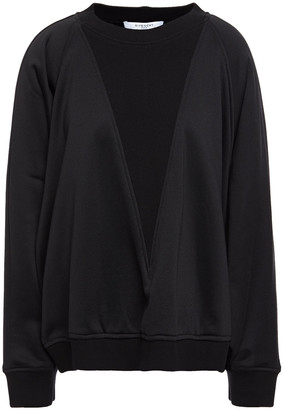 Givenchy Oversized Ribbed-knit And Fleece Sweatshirt