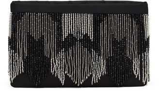 Prada Beaded-Fringe Clutch Bag