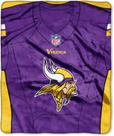 Northwest Company Minnesota Vikings Jersey Plush Raschel Throw