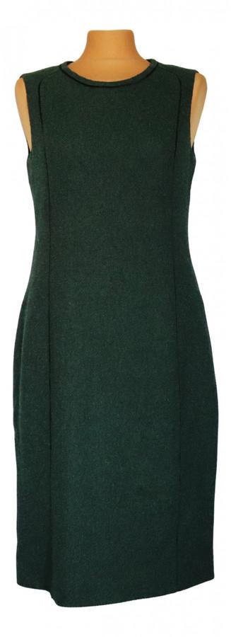 Rena Lange Green Wool Dresses