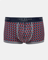 Geo Print Organic Cotton-blend Boxer Shorts
