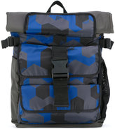 Emporio Armani large backpack - men - Nylon/Polyester - One Size