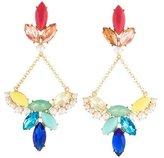 Lulu Frost Faux Pearl & Crystal Drop Earrings