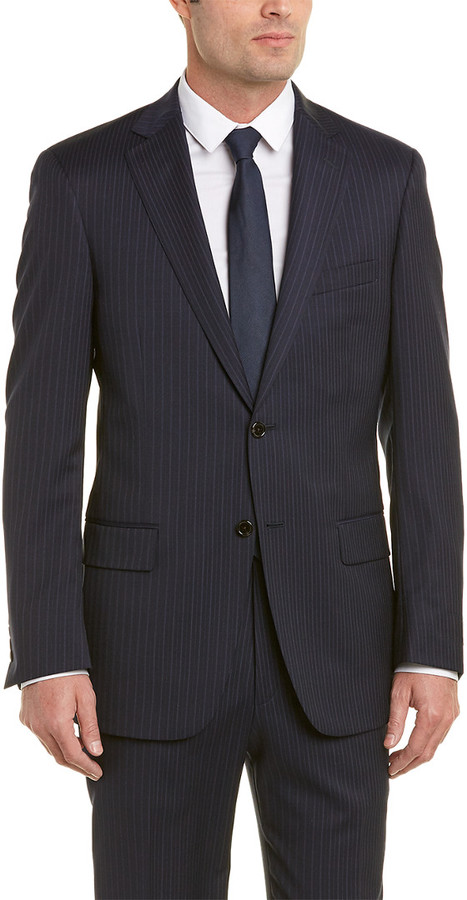 Hart Schaffner Marx Chicago Fit Wool Suit