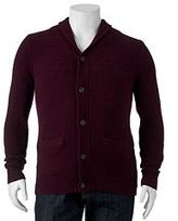 Big & Tall SONOMA Goods for LifeTM Classic-Fit Wool-Blend Shawl-Collar Sweater