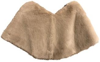 Marella Beige Faux fur Jacket for Women