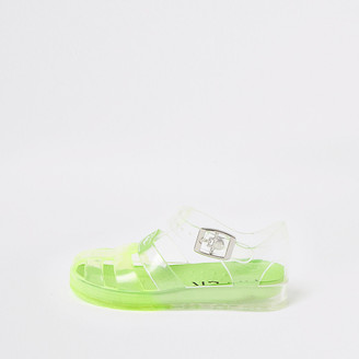 River Island Mini boys green Prolific jelly sandals