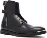 Alexander McQueen Strap Leather Combat Boots