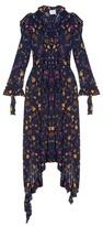 Vetements Ruffled-shoulder floral-print dress