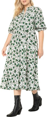 ELOQUII Floral Shirtdress