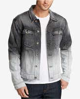 William Rast Men's Erwin Ombré Denim Cotton Moto Jacket