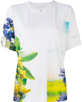 adidas by Stella McCartney floral-print T-shirt - women - Polyester - XS