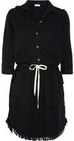 Splendid Frayed Voile Dress - Black