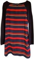 Maje Navy Silk Dresses