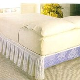 Carol Wright Gifts NEW WRAP AROUND EYELET LACE BED SKIRT / DUST RUFFLE, QUEEN/KING , BEIGE