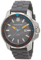 Tommy Bahama Men&s Big Island Silicone Strap Watch