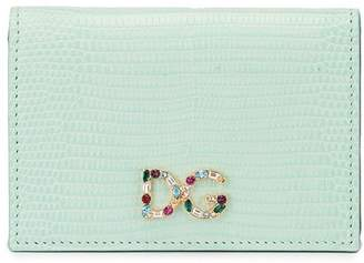 Dolce & Gabbana Dauphine crystal logo cardholder