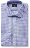 Emma Willis - Blue Slim-Fit Checked Cotton Oxford Shirt