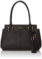 Calvin Klein 3 ZV Saffiano Satchel Top Handle Bag