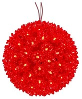 "Vickerman 50ct x 6"" LED Starlight Sphere - Red"
