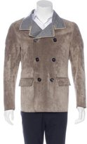 Lanvin Suede Wool-Lined Peacoat