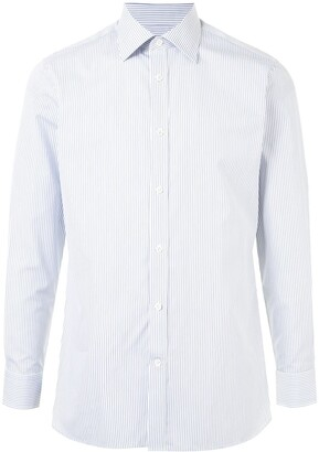 Gieves & Hawkes Striped Button-Up Shirt