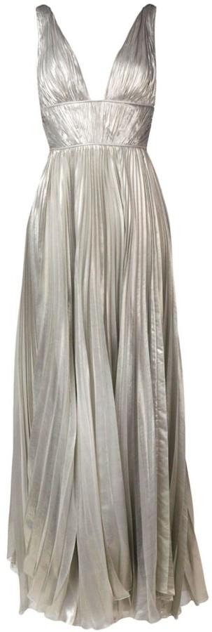 Maria Lucia Hohan Riley metallic maxi dress