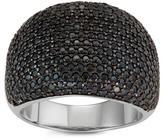 Tiara 1 5/9 CT TW Pave-Set Black Spinel Sterling Silver Fashion Ring