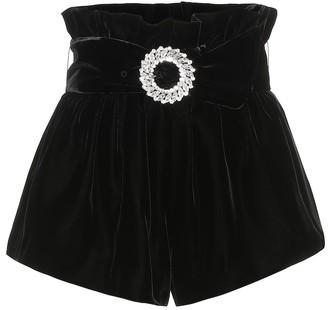 Miu Miu Embellished velvet shorts