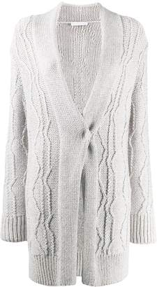 Fabiana Filippi draped slim-fit cardigan