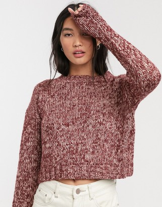 Only long sleeve pullover knit jumper-Purple